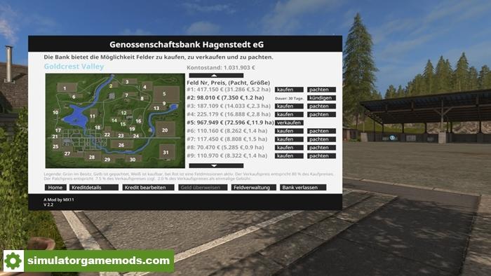 Car Simulator Games >> FS17 - Bank of Hagenstedt V2.2.0.0 | Simulator Games Mods