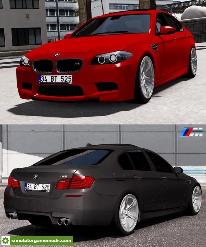 Color Changing Cars: ETS 2 – BMW M5 F10 Car Mod V2.0 (1.27.X)
