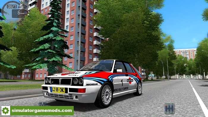 city car driving 1 5 3 lancia delta integrale car mod simulator games mods download. Black Bedroom Furniture Sets. Home Design Ideas