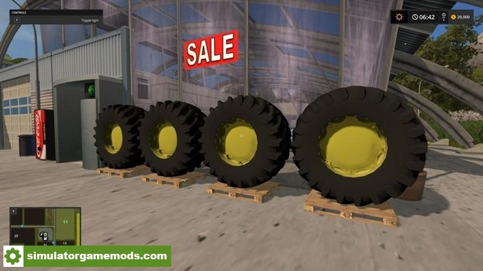 Fs17 tractor tire v1 0 simulator games mods download for Big tractor tires for free