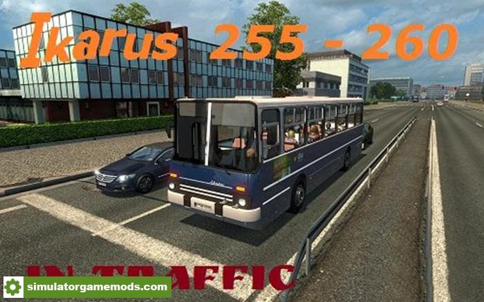 ETS 2 - Ikarus 255 - 260 Bus Traffic Mod (1 27 X