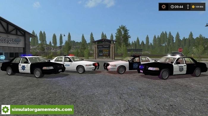 Fs17 Ford Crown Victoria Police Cruiser Pack Simulator