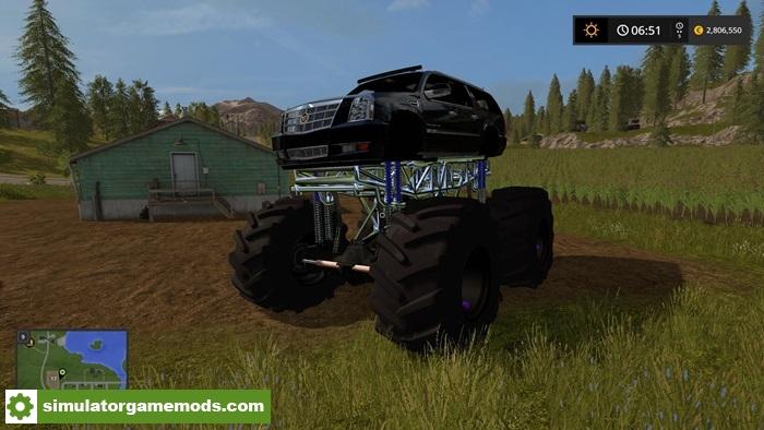 Used Cadillac Ats >> FS17 - Mud Cadillac Escalade | Simulator Games Mods Download