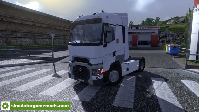 ets 2 renault t truck v5 simulator games mods download. Black Bedroom Furniture Sets. Home Design Ideas