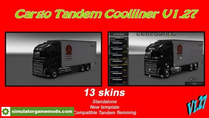 Ets 2 Cargo Tandem Cooliner 1 27 X Simulator Games