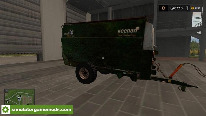 Fs17 Keenan Mech Fibre 340 Feeder Wagon V1 1 Simulator