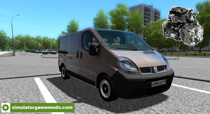 city car driving 1 5 4 renault trafic custom diesel sound simulator games mods download. Black Bedroom Furniture Sets. Home Design Ideas