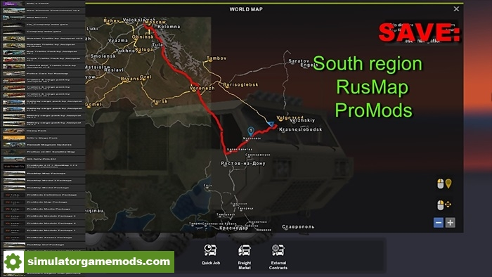 Ets 2 Save South Region Rusmap Promods 1 28 X
