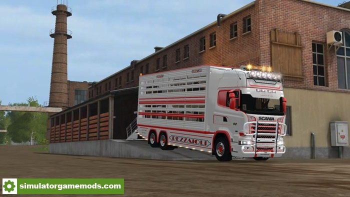 FS17 - Scania R730 Animal Transports V2 2   Simulator Games Mods
