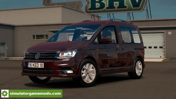 ets 2 volkswagen caddy car mod simulator games mods download. Black Bedroom Furniture Sets. Home Design Ideas