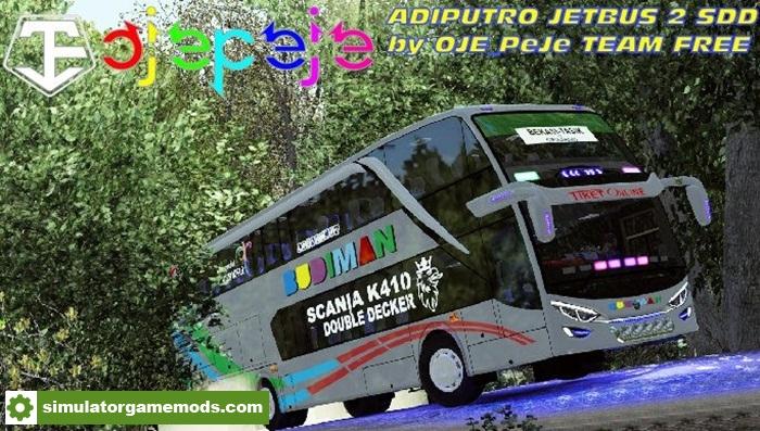 Ets 2 Mod Bus Adiputro Jetbus 2 Double Decker 1 28 X
