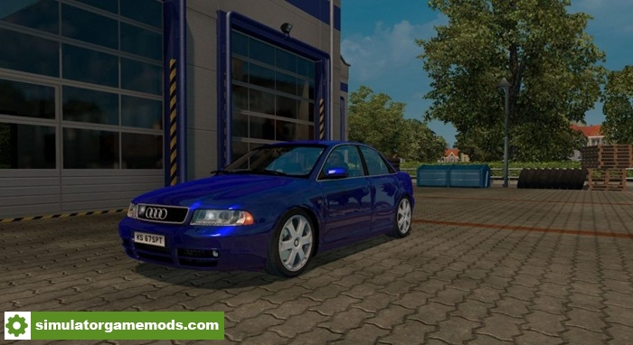 ets 2 audi s4 b5 sedan avant v1 simulator games mods download. Black Bedroom Furniture Sets. Home Design Ideas