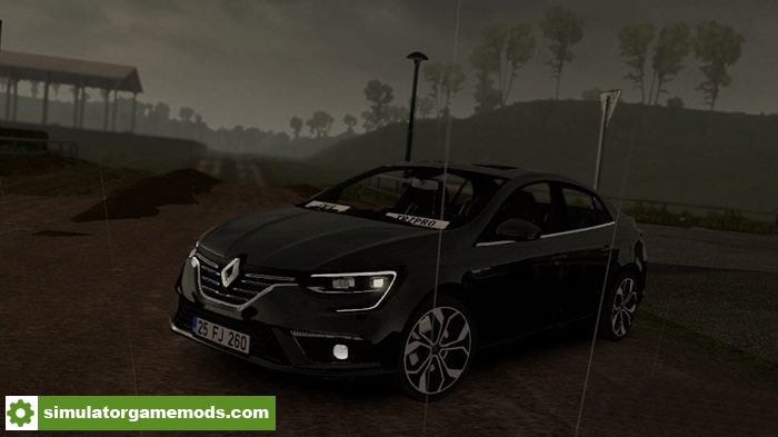 ets 2 renault megane 4 car mod simulator games mods download. Black Bedroom Furniture Sets. Home Design Ideas