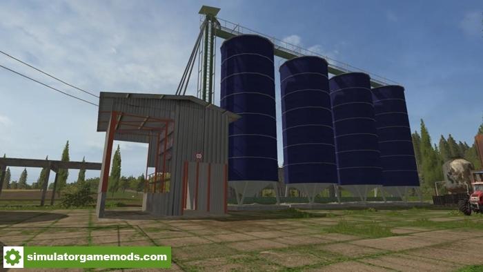 fs17  u2013 grain storage silo v1 0 0 1  u2013 simulator games mods download