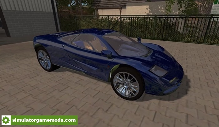 Farm Truck Engine >> FS17 - McLaren F1 Super Car Mod V1.0 | Simulator Games