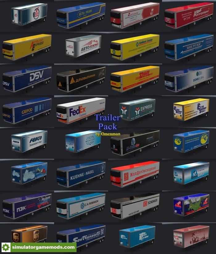 ATS - Trailer Pack V14 0 (1 30 X) | Simulator Games Mods