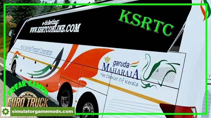 ETS2 - Indian Bus Ksrtc Maharaja Skin for Setra 517 Hdh