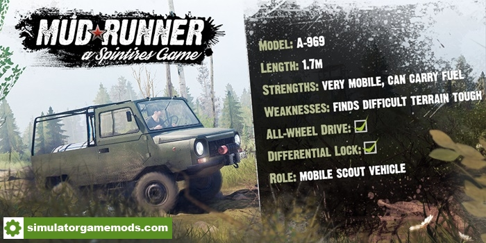 spintires mudrunner introducing the a 969 simulator. Black Bedroom Furniture Sets. Home Design Ideas