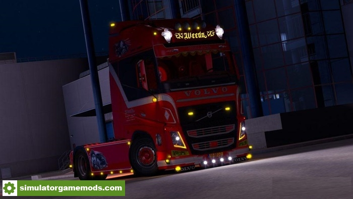 Real Driving Games >> ETS 2 - Volvo Fh Weeda V1.0 (1.30.X) | Simulator Games Mods Download