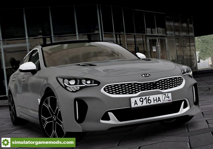 Range Rover Black >> City Car Driving 1.5.5 – Kia Stinger GT 2018 Car Mod – Simulator Games Mods Download