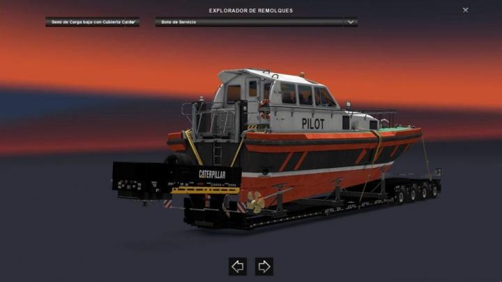 ETS2 - Cat Heavy Haul Dlc Trailer Skin V1 (1 31 X