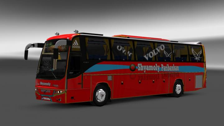 ETS2 - Volvo B12Btx Bus + Passenger + Bd Shyamoly Bus Skin
