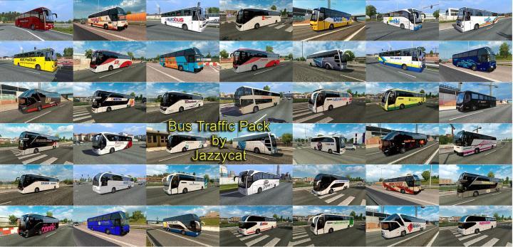 ETS2 - Bus Traffic Pack V4 2 (1 31 x) | Simulator Games Mods