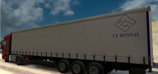 ETS2 - Lt Rental Trailer V1 (1 32 x) | Simulator Games Mods