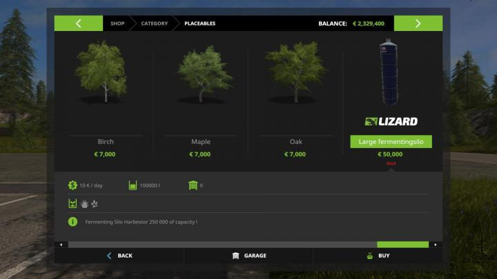 FS17 - Placeable Harvestor Silo V1 | Simulator Games Mods Download