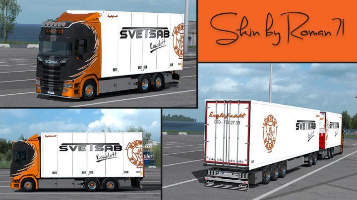 Ets2 Scania Ng S Englafrakt Skin 1 32 X Simulator