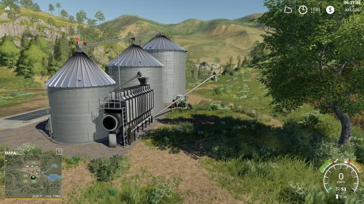 Car Driving Games >> FS19 - Placeable Large Grain Silo V1.0.1.0 | Simulator Games Mods Download