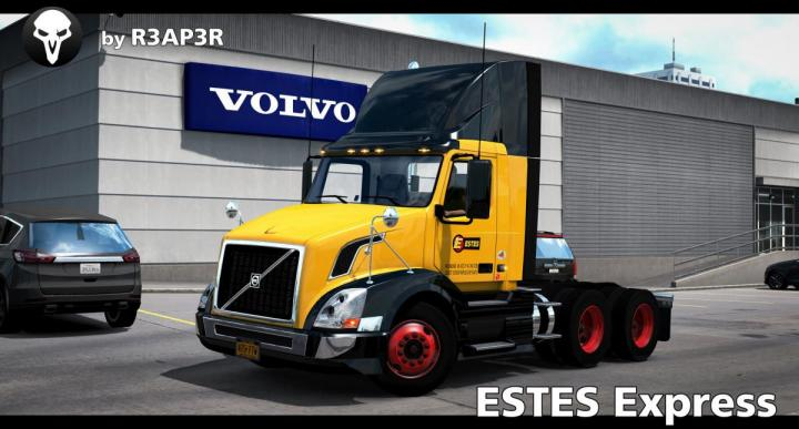 Ats Estes Express Skin For Scs Volvo Vnl 300 V1 1 33 X Simulator Games Mods Download