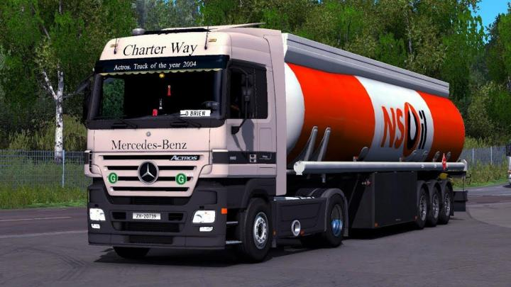 ETS2 - Mercedes Actros Mp2 And Mp3 Sound Update (1 33 x