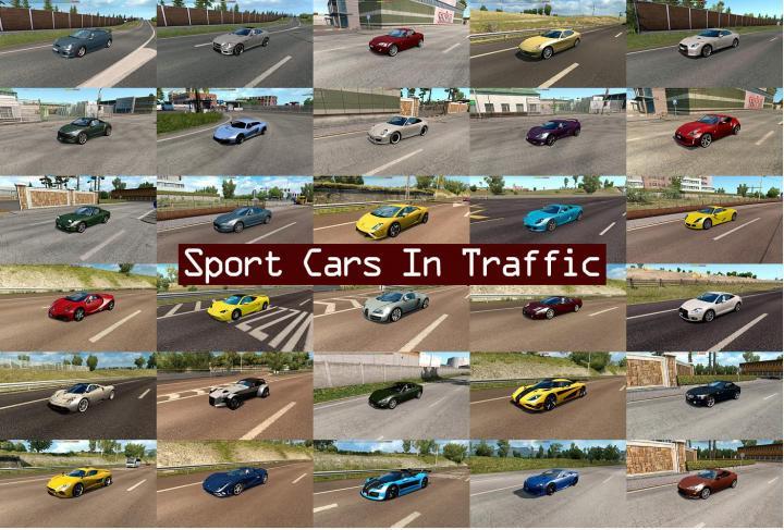 Ets2 Sport Cars Traffic Pack By Trafficmaniac V2 4 1 33 X Simulator Games Mods Download