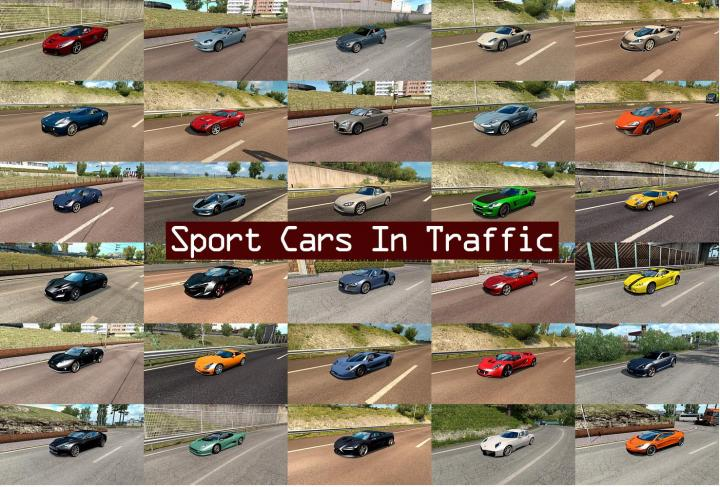 Ets2 Sport Cars Traffic Pack By Trafficmaniac V2 4 1 33 X Simulator Games Mods Download