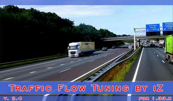 ETS2 - Traffic Flow Tuning V2 4 (1 33 x) | Simulator Games