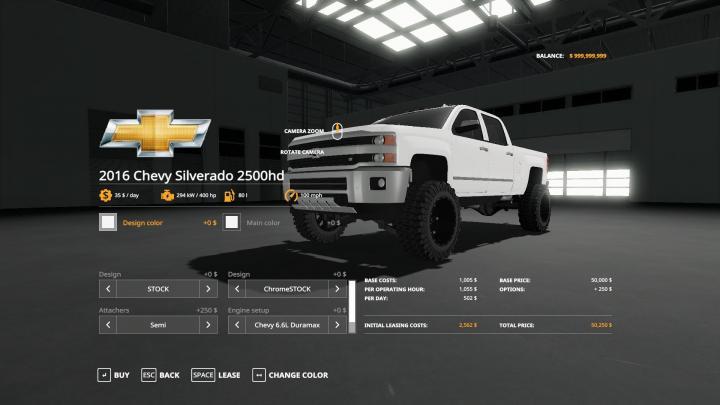 FS19 - 2016 Chevy 2500Hd Duramax V1.2 | Simulator Games ...