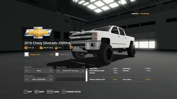 FS19 - 2016 Chevy 2500Hd Duramax V1.2 | Simulator Games ...