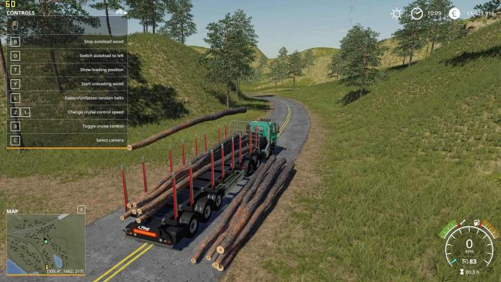 fs19  u2013 fliegl timber runner with autoload wood v1  u2013 simulator games mods download