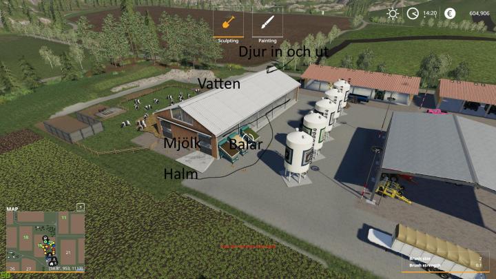 FS19 – Large Cow Pasture V1.3 – Simulator Games Mods Download