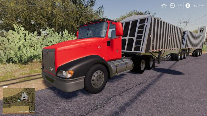 fs19  u2013 international eagle 9400 truck v1  u2013 simulator games mods download