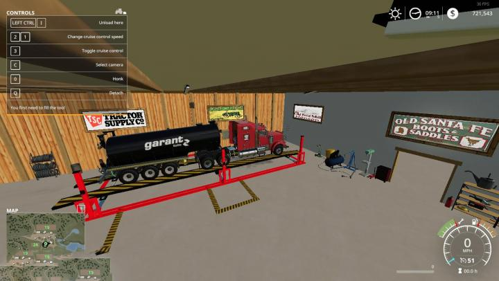 Fs19 Placeable Animated Machine Shop With Refuel Point