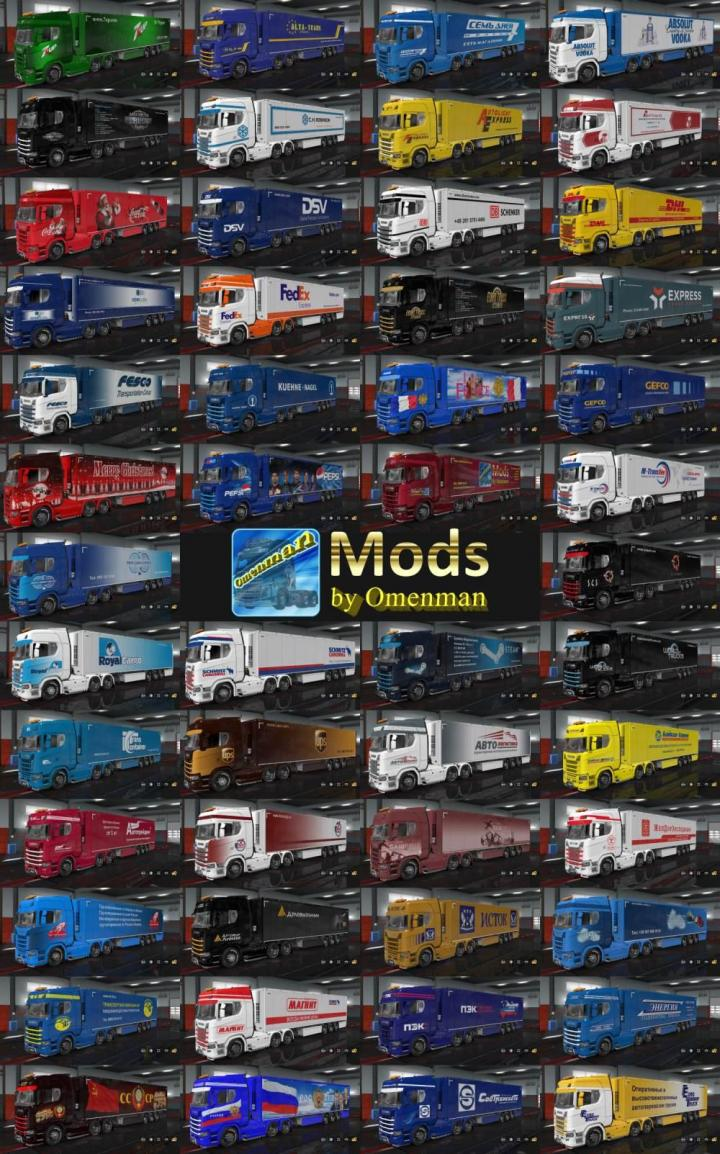 Car Simulator Games >> ETS2 - Combo Pack By Omenman V1.04.0 (1.33.x) | Simulator Games Mods Download
