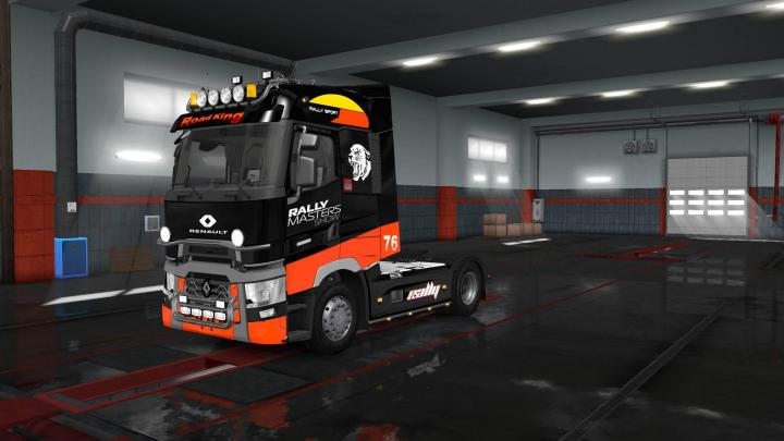 ets2 renault range t rally skin v2 simulator games mods download. Black Bedroom Furniture Sets. Home Design Ideas