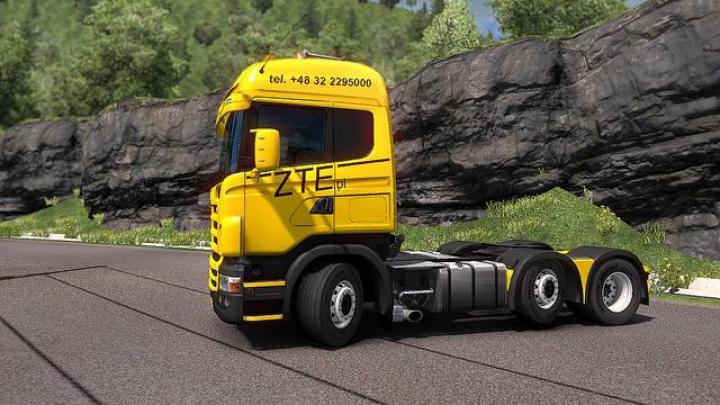 ETS2 - Scania Rjl - Skin Zte (1 33 x) | Simulator Games Mods