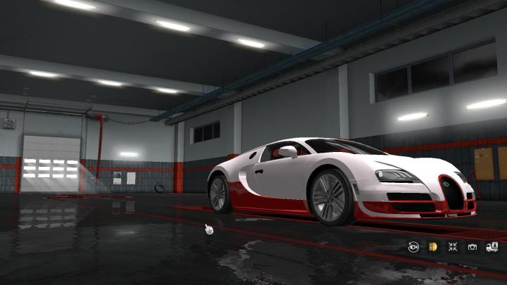Car Simulator Games >> ETS2 - Sportcar Bugatti Veyron V2 (1.33.x) | Simulator Games Mods Download