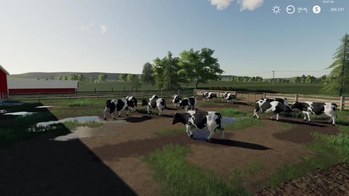 Fs19 Autumn Oaks Cows Fixed Again Map V2 Simulator