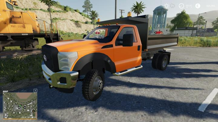 Car Driving Games >> FS19 - F550 Dump Truck With Cat Idk Probally Final (1.33.x) | Simulator Games Mods Download