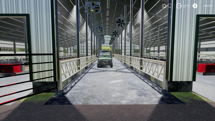 Car Simulator Games >> FS19 - Large American Cow Shed V1   Simulator Games Mods Download