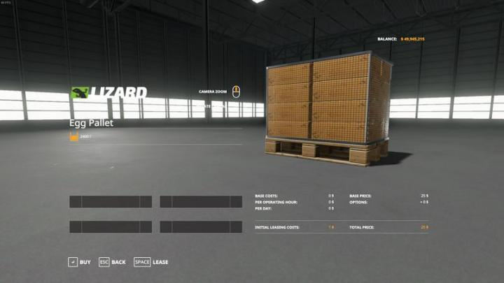 Get A Car With No Credit >> FS19 - Purchasable Egg Pallet V1 | Simulator Games Mods ...
